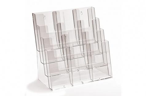 Daudzstāvu galda stends 4C330, A4, A5, DL/E65 (⅓А4) formātiem