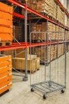 Režģu konteiners ar 3 sienām, 720 x 800 x 1800 mm